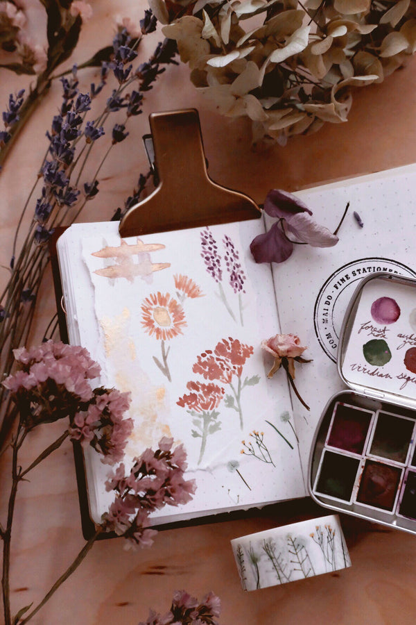 Day 17 Art Journal Challenge + Bouquets of color