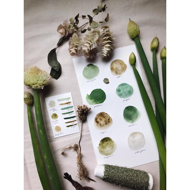 RESERVE for Julia + A Gathering of Leaves +  Limited edition Gemstone Mineral watercolor palette