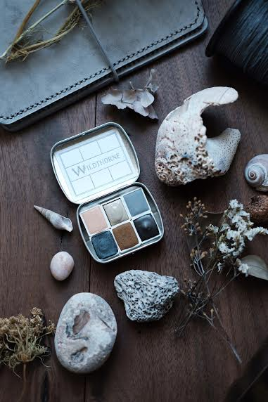 RESERVE for Kate + Seashell Beachcombing + Moons of Saturn - Limited edition Gemstone Mineral watercolor palette