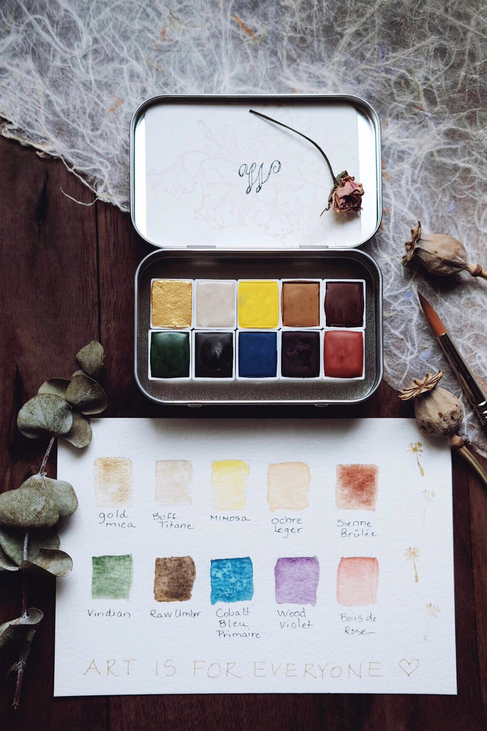 Art is for Everyone + Wildthorne X  Kateri Ewing Collaboration  - Earth Mineral watercolor palette