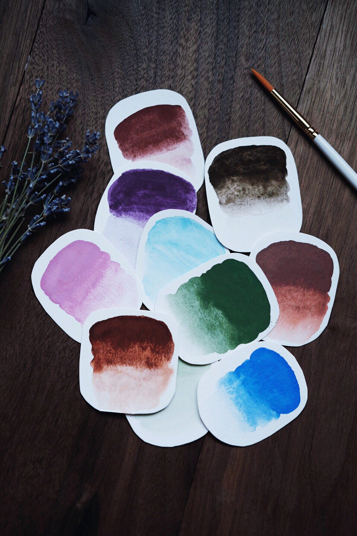 RESERVE for Teri + Custom mineral watercolors