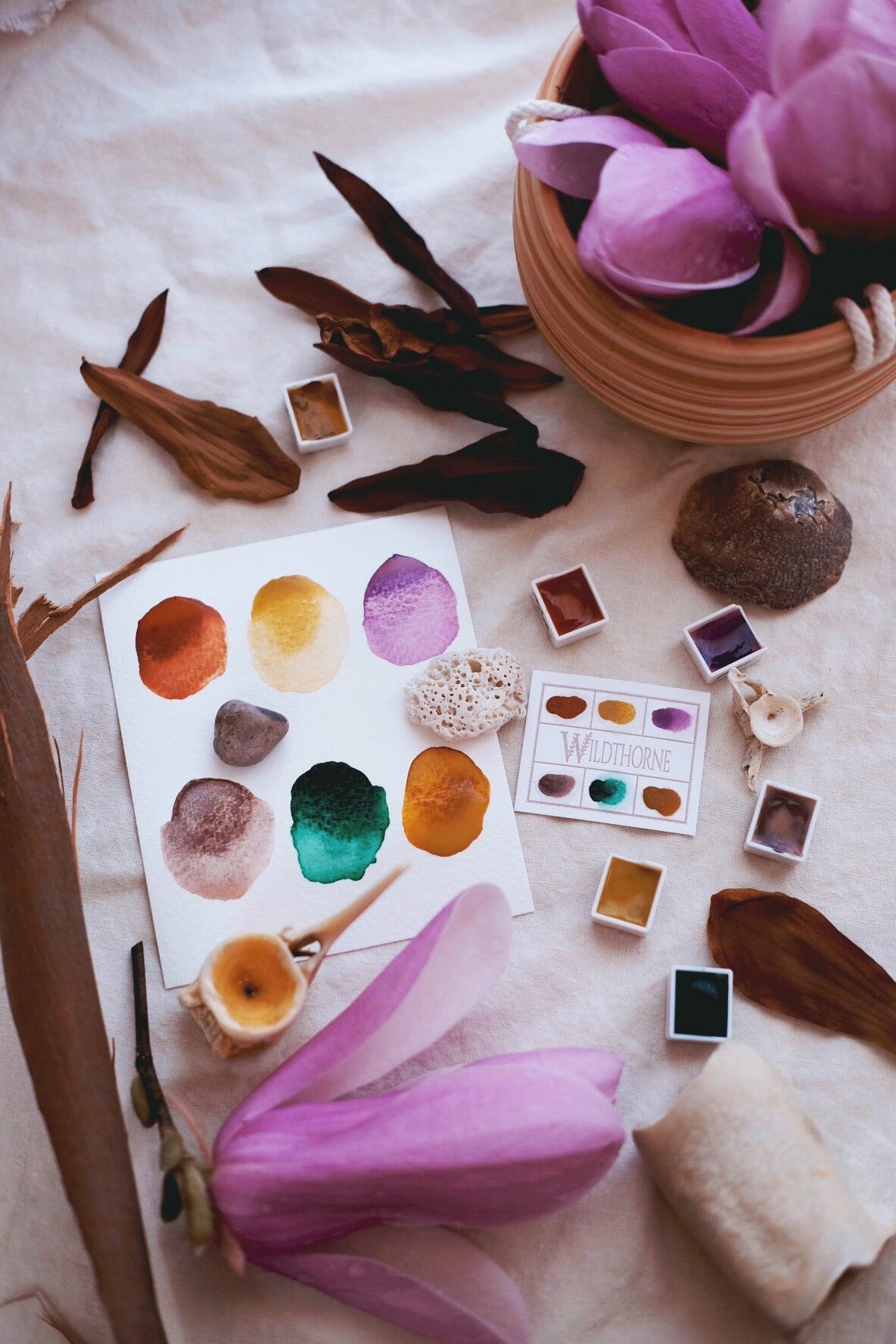 RESERVE for Jane + Storyteller + Limited edition Gemstone Mineral watercolor palette