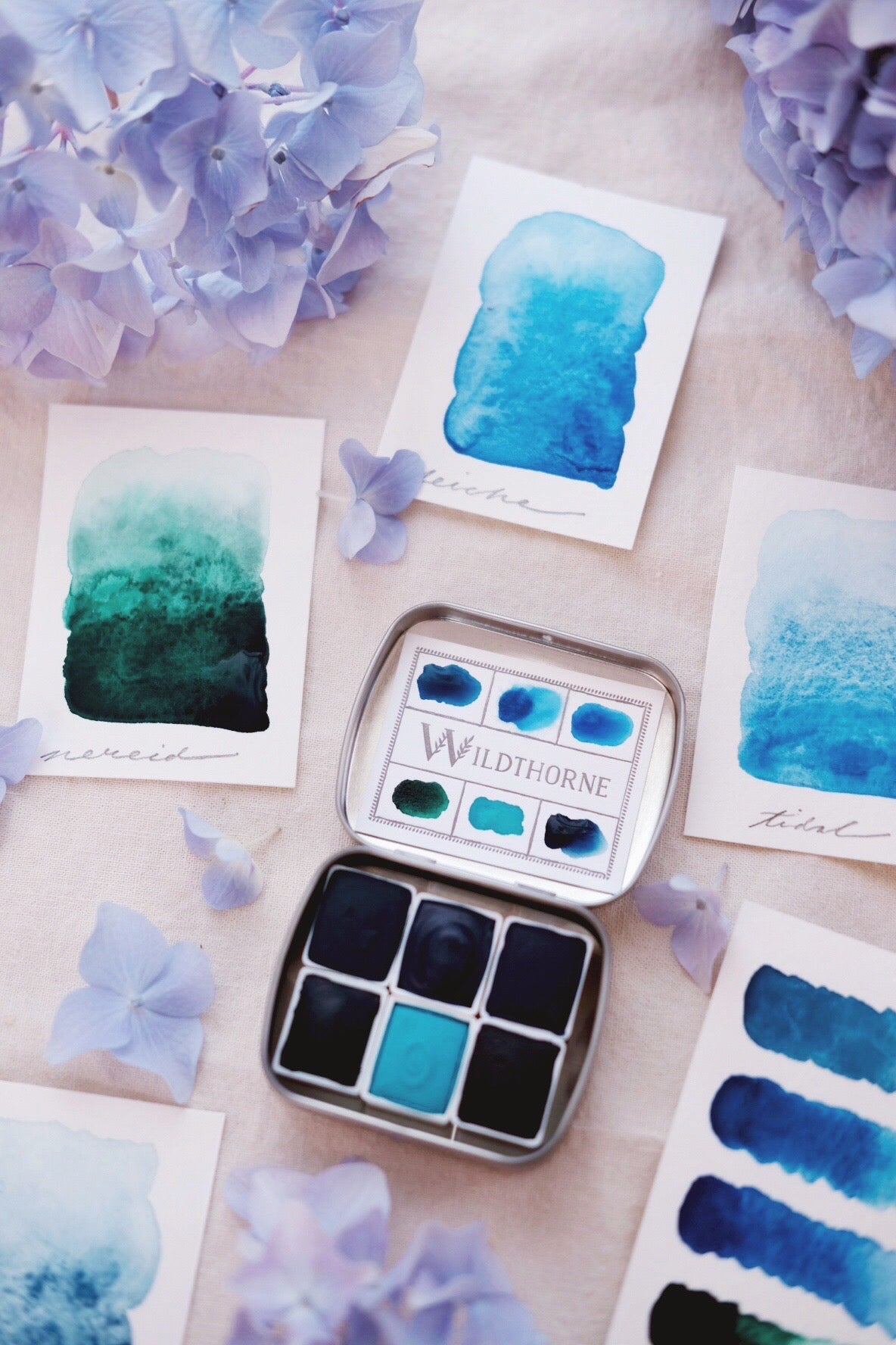 RESERVE for Jessica + Custom Voyager + Limited edition Gemstone Mineral watercolor palette