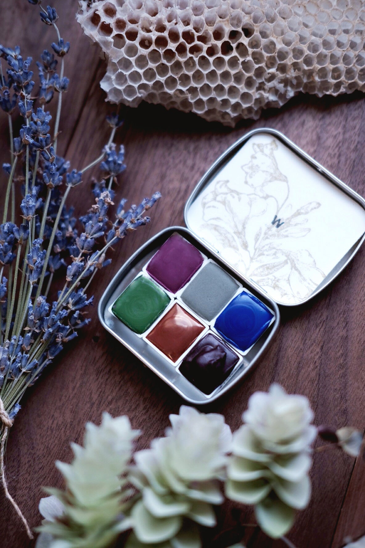 RESERVE for Sherry + Nisene Wildflower - Mineral watercolor palette