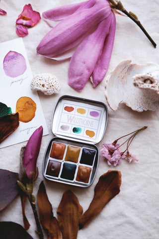 RESERVE for Diane-  Storyteller + Voyager -  Limited edition Gemstone Mineral watercolor palette