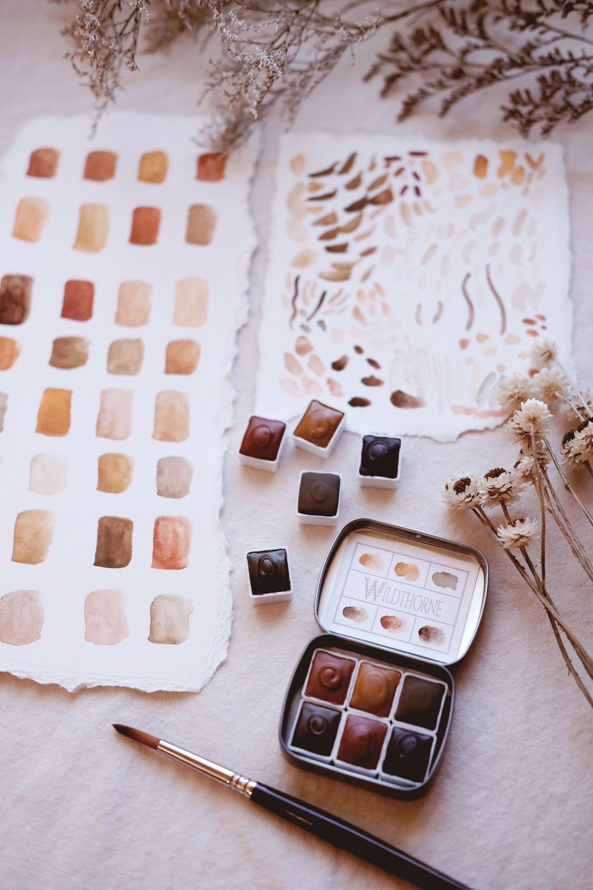 RESERVE for Charlie + Custom gemstone and natural mineral watercolor palette part i.