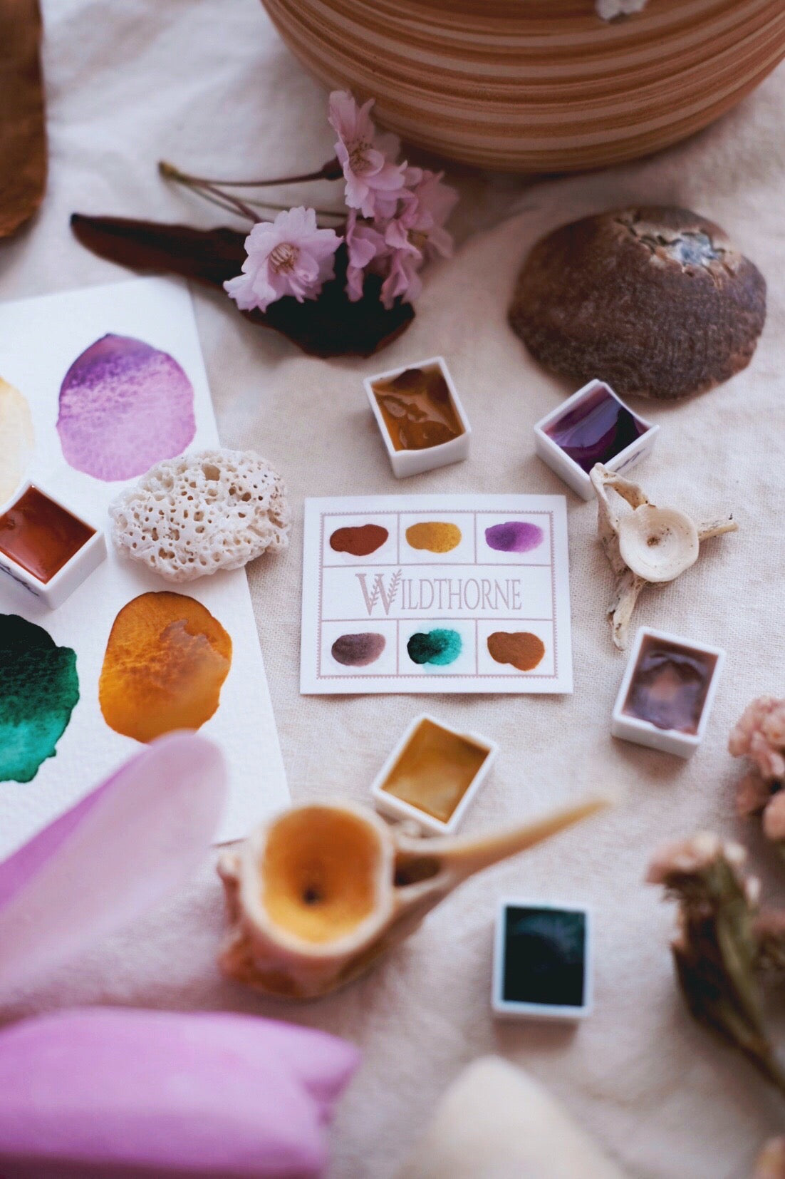 RESERVE for Lisa + Storyteller + Magnolia custom Limited edition Gemstone Mineral watercolor palette
