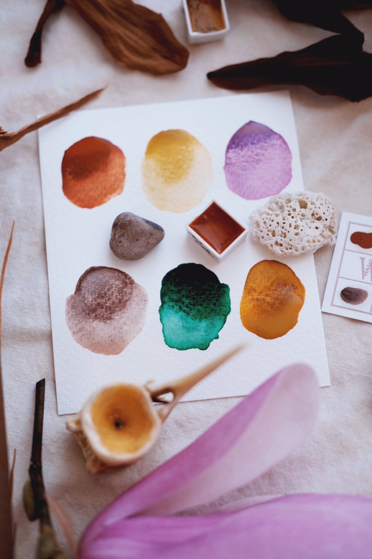 RESERVE for Richele + Storyteller + Magnolia custom Limited edition Gemstone Mineral watercolor palette