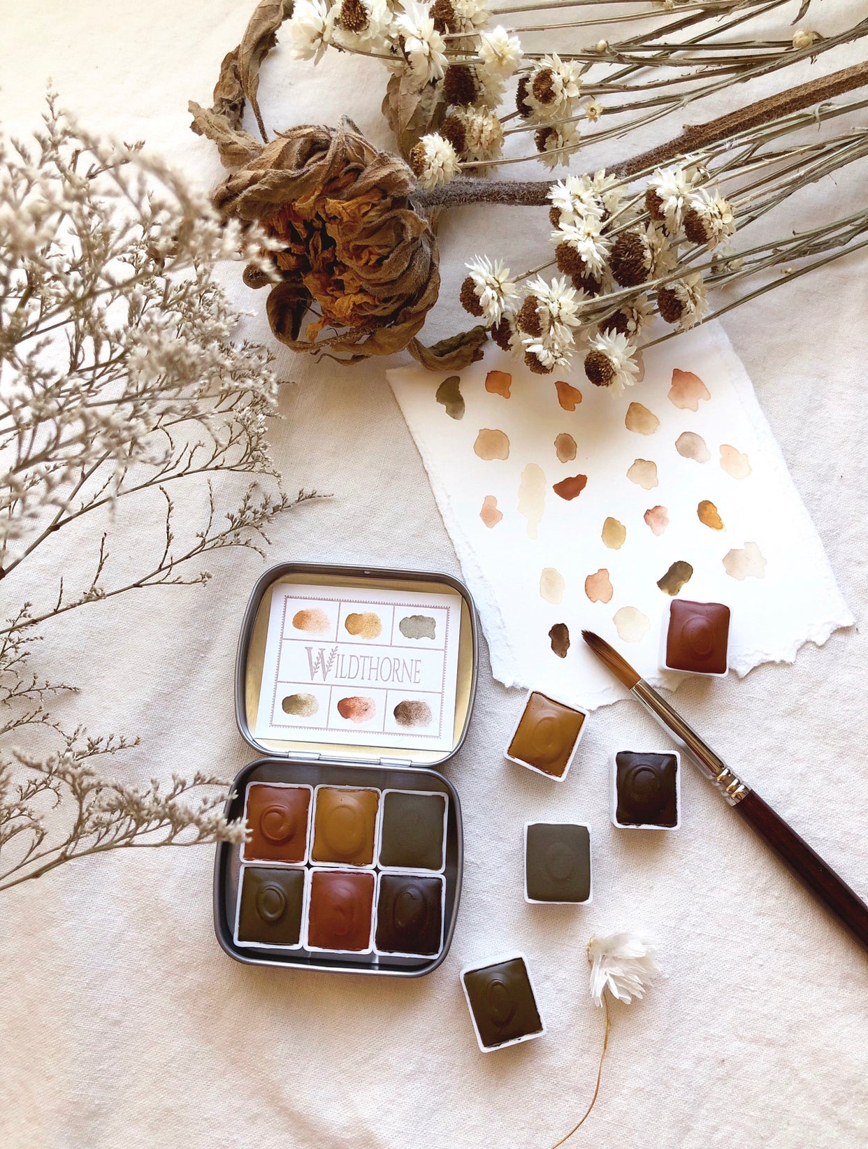 RESERVE for Nicole  + Tree Alchemy & Chypre -  Limited edition Mineral watercolor palettes