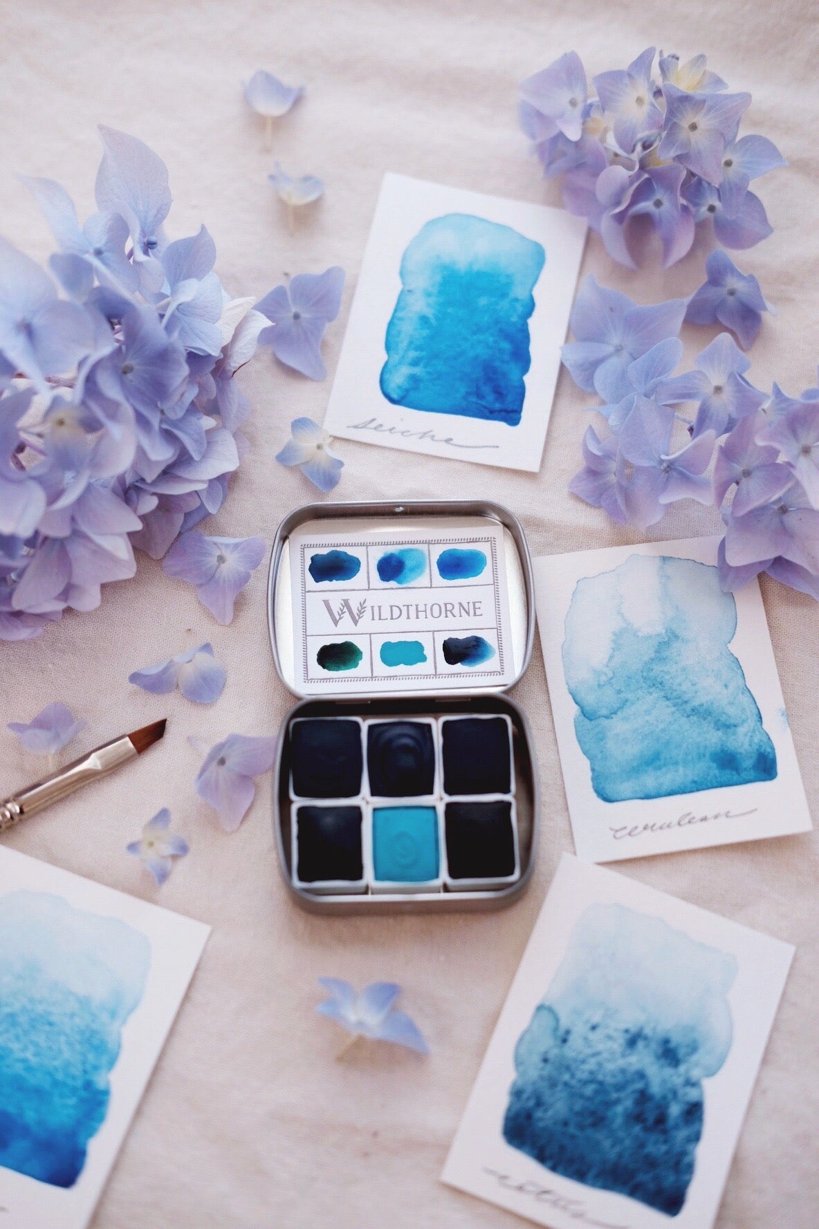 RESERVE for Jane + Voyager + Amarante - Limited edition Gemstone Mineral watercolor palette