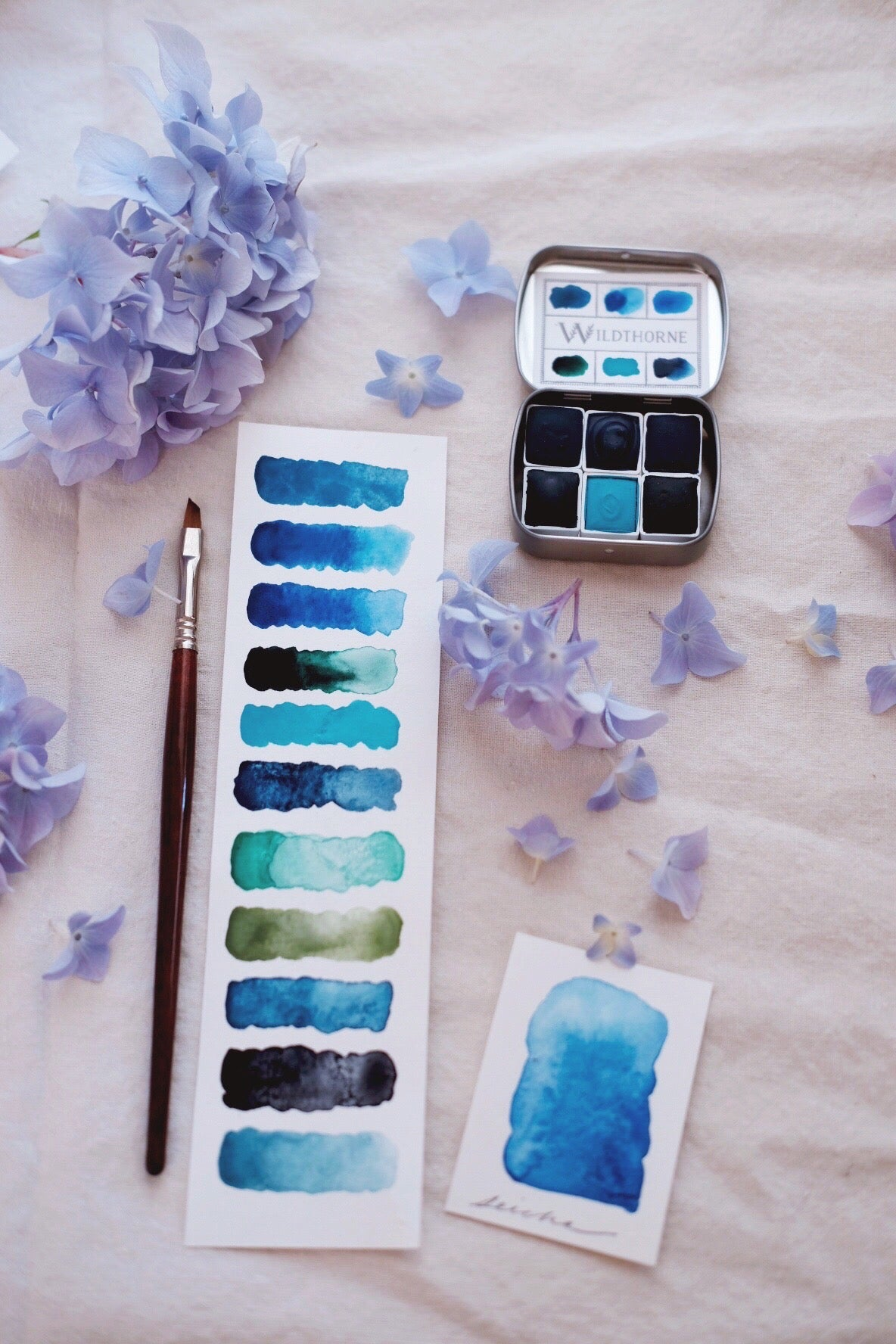RESERVE for Bette + Voyager + Limited edition Custom Gemstone Mineral watercolor palette