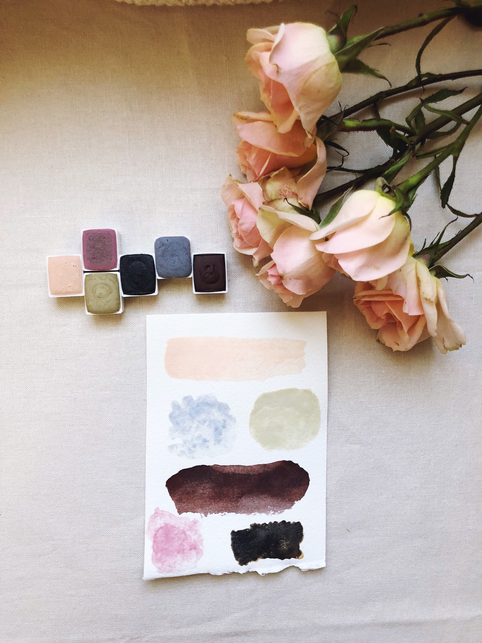 Rainy Day + Limited edition Gemstone Mineral watercolor palette