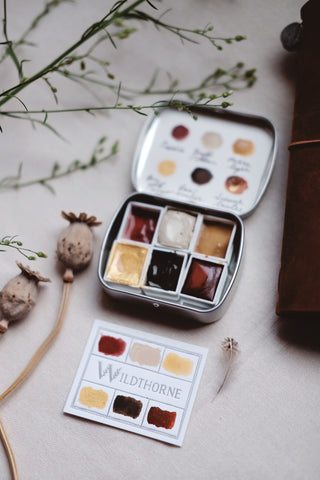 RESERVE for Carol+  Autumn Leaves - Earth Mineral watercolor palette