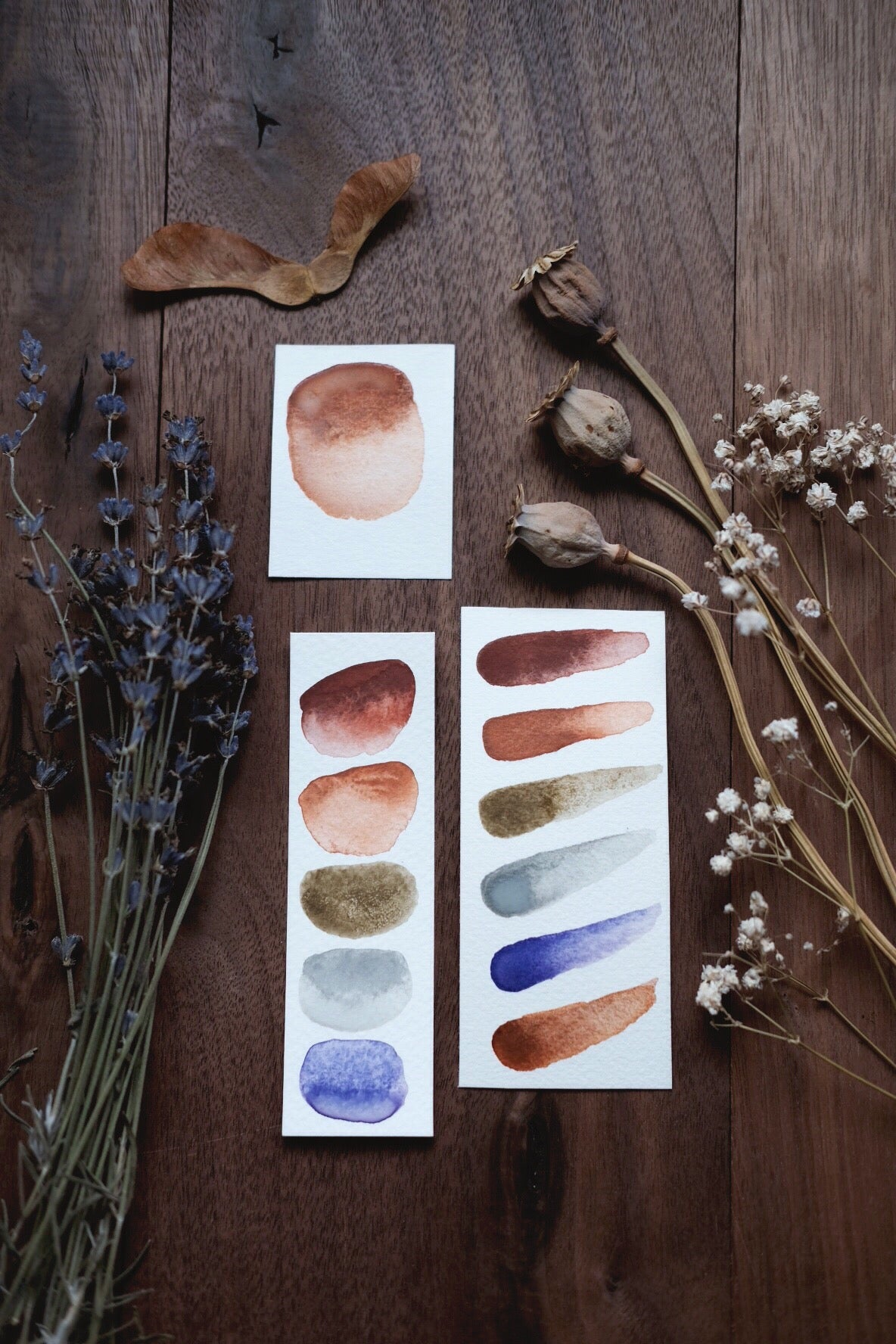 Field Sunset - Earth Mineral watercolor palette