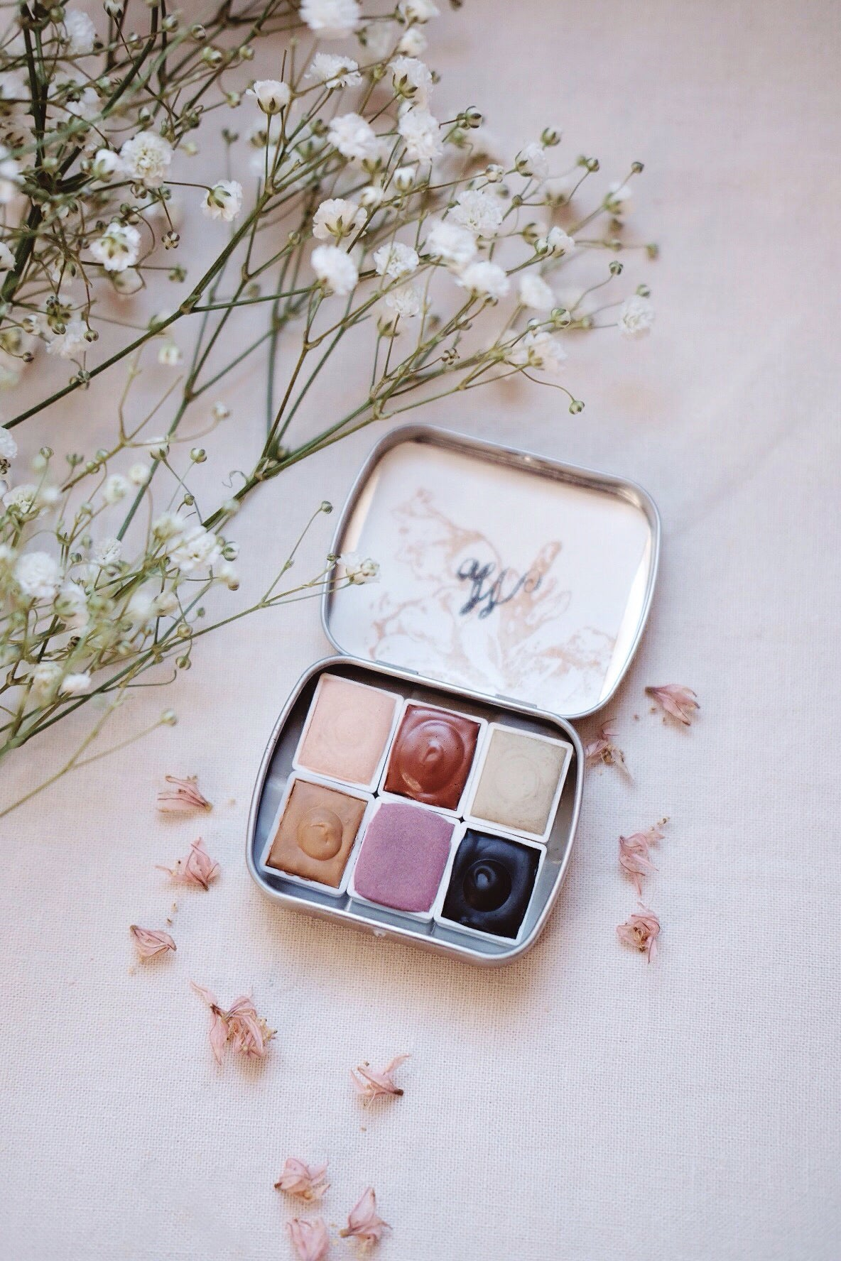 RESERVE for Christine + Foxtail Lily + Limited edition Gemstone Earth Mineral watercolor palette