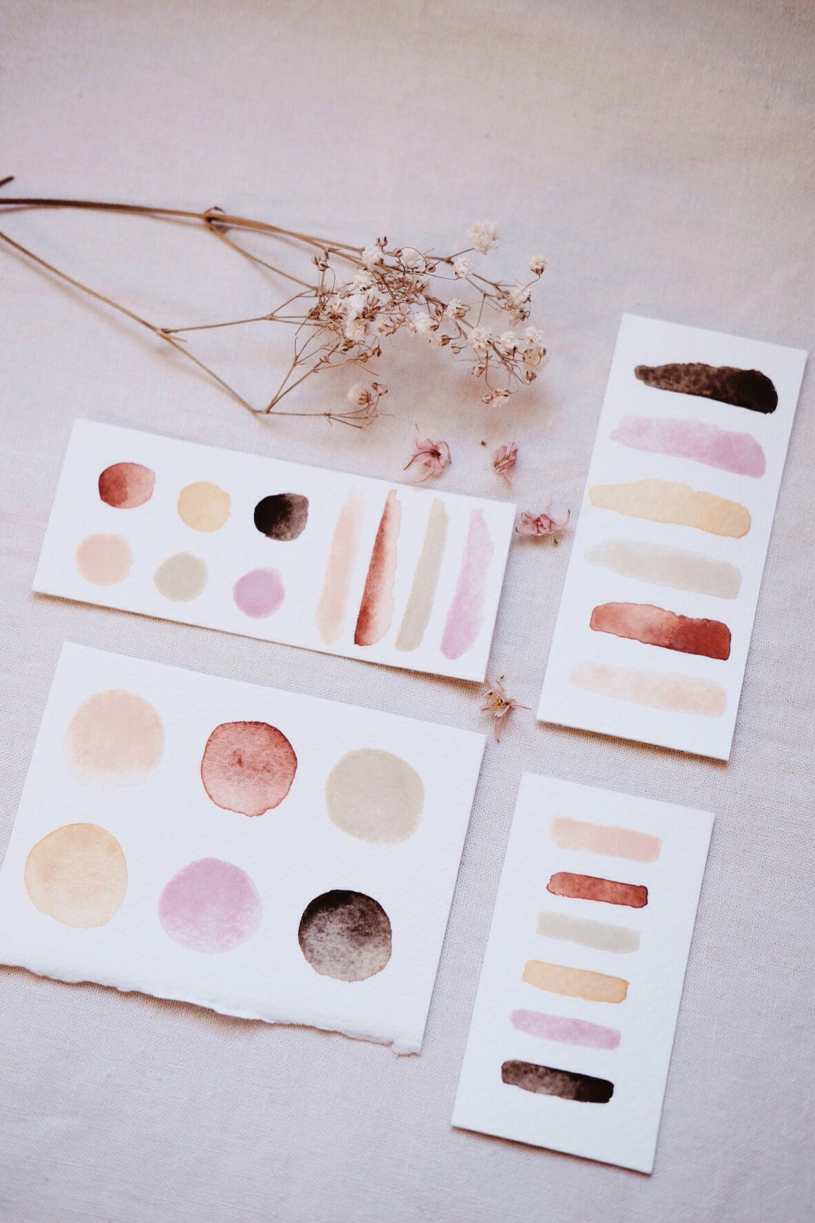 RESERVE for Anneli + Custom Limited edition Gemstone Earth Mineral watercolor palettes