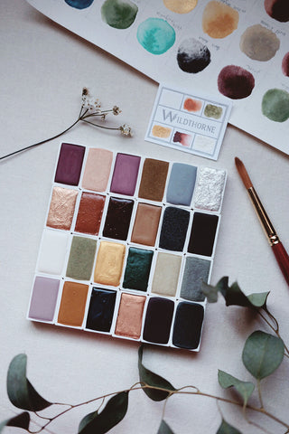 Full pan - Limited edition Gemstone + Mineral watercolors