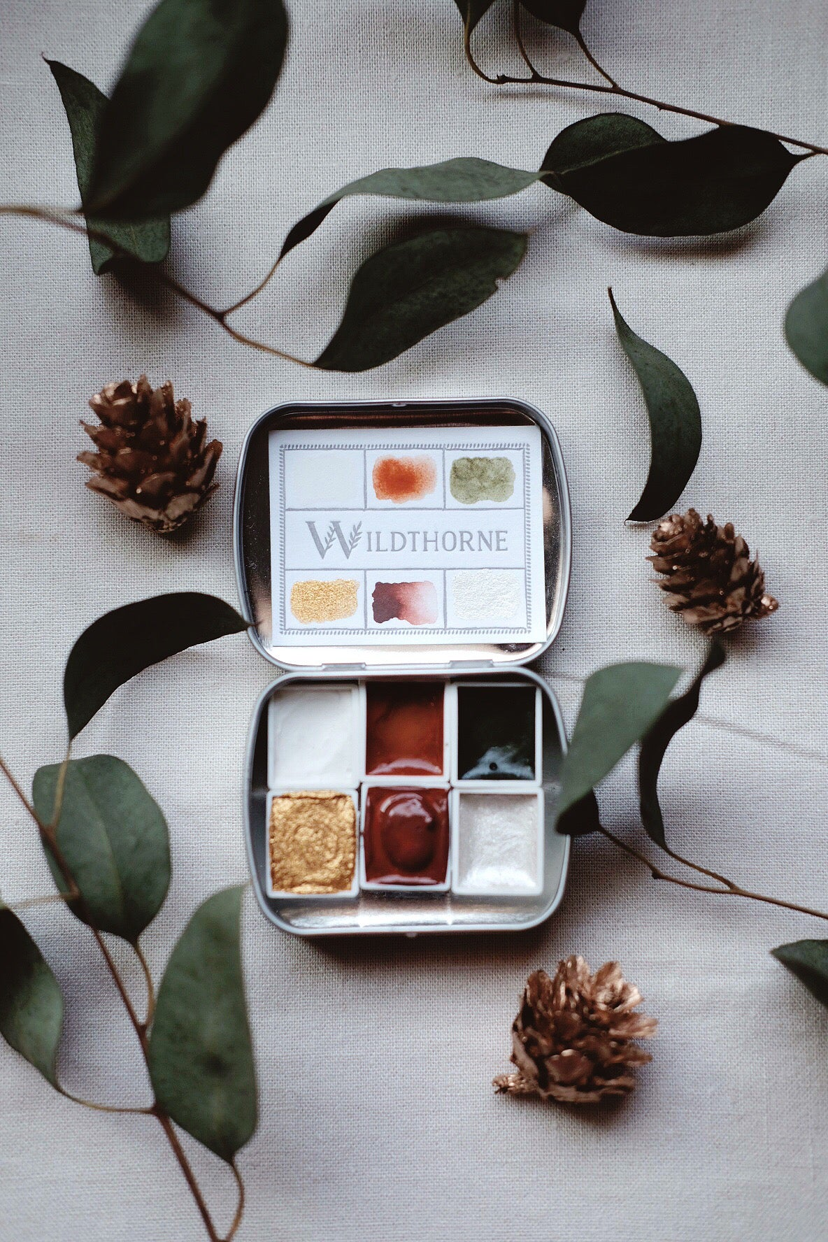 Holiday Winter + Limited edition gemstone and mineral watercolor palette