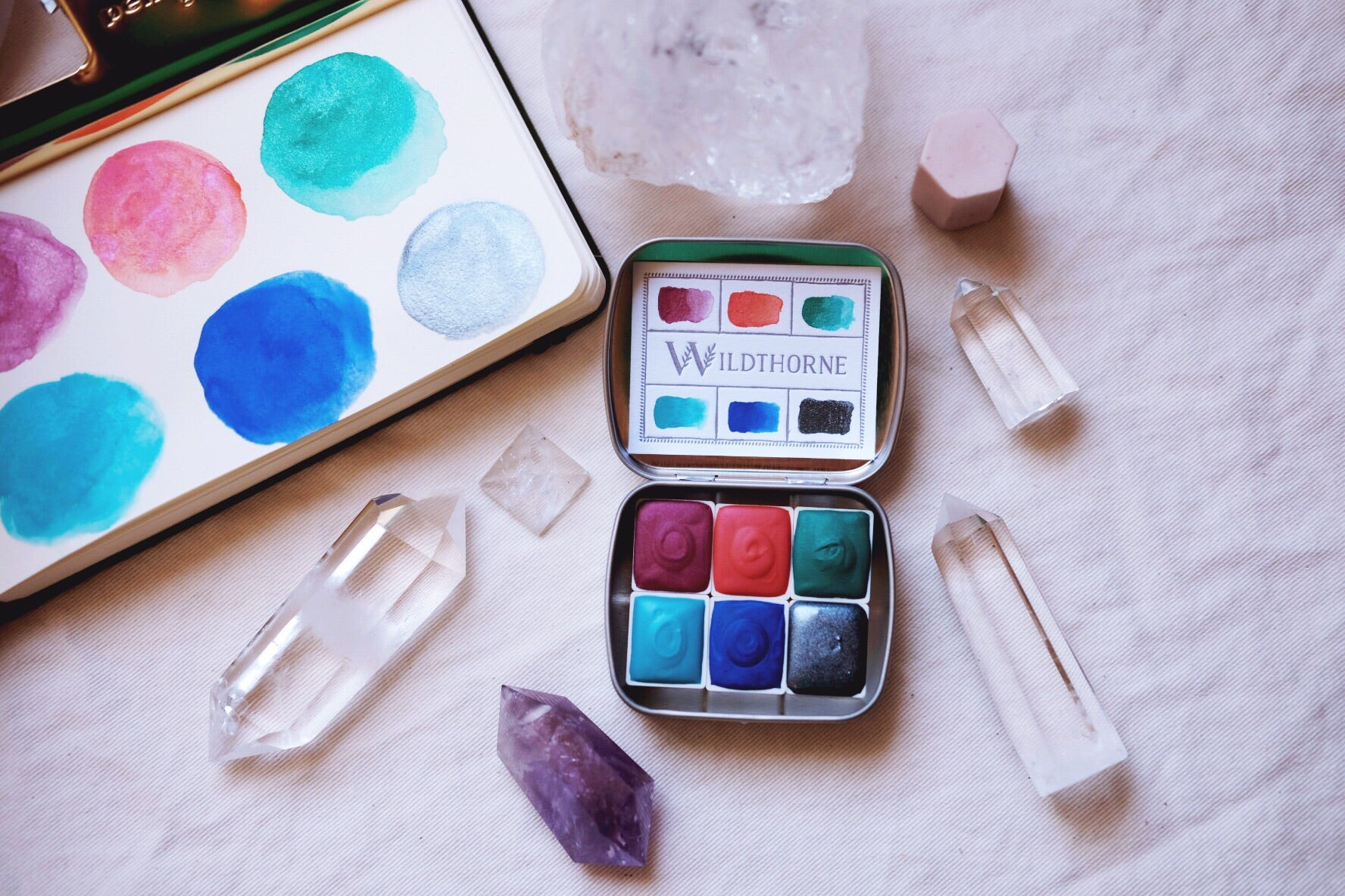 RESERVED for Shannon + Pre-order 'Moons of Saturn' Mineral and shimmer watercolors