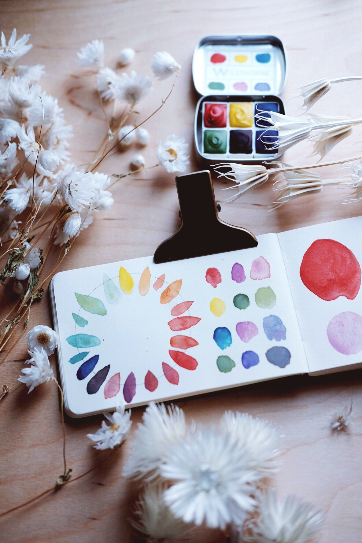 RESERVE for Hanne + Kaleidoscope + Primary Mineral watercolor palette