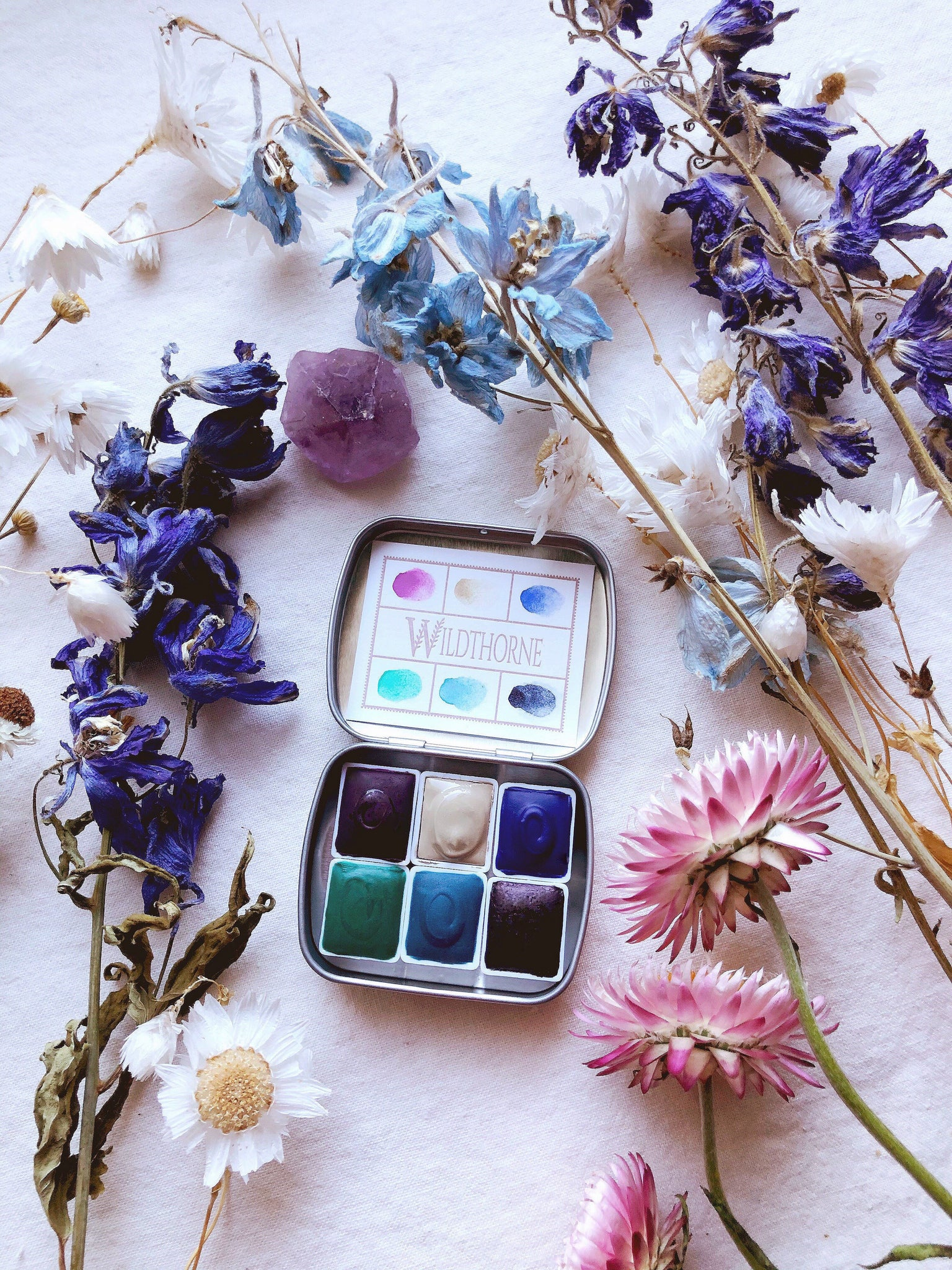 "RESERVE for Elisabeth + Tree Alchemy + ""Being You"" journal - Limited edition Mineral watercolor palette"