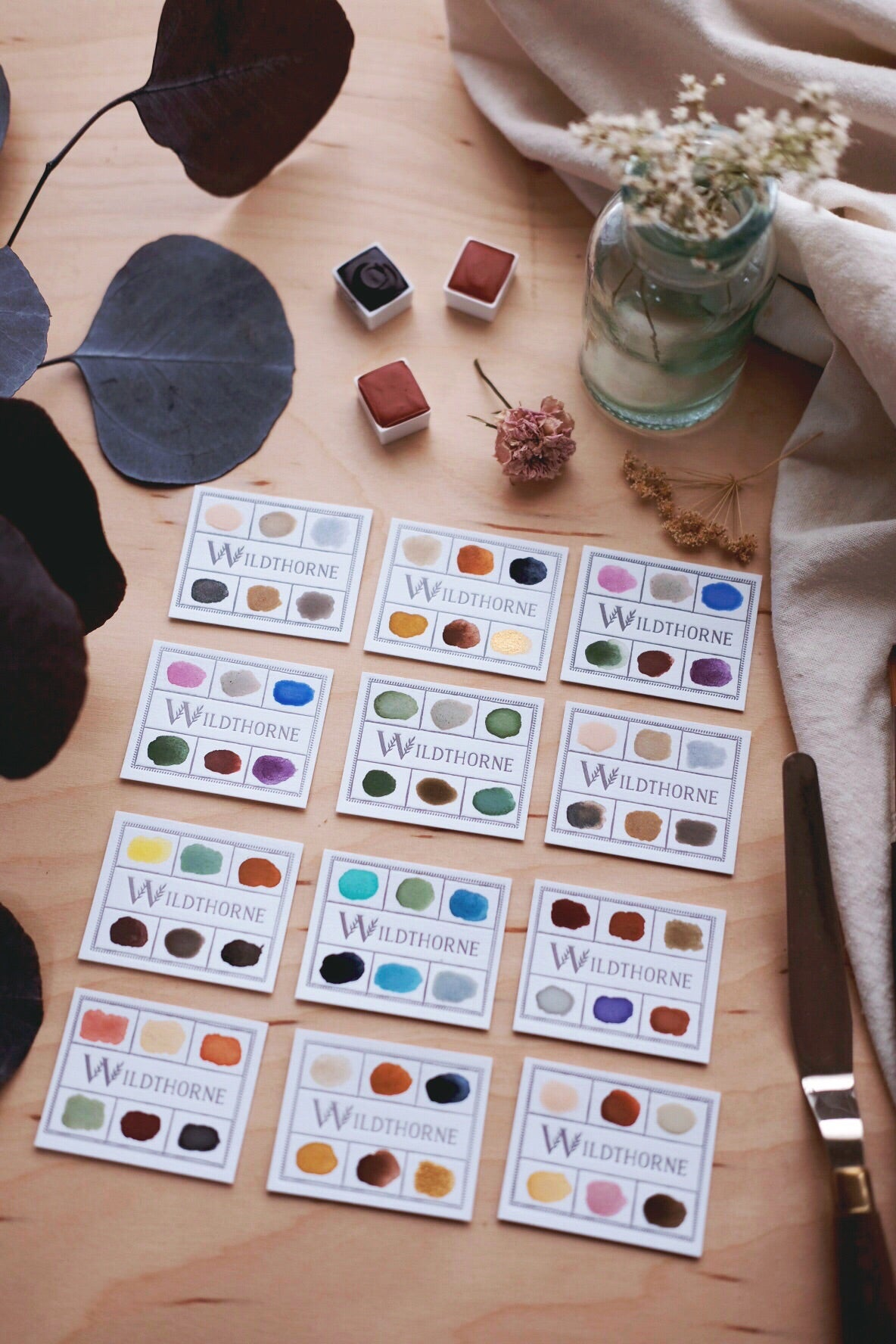 RESERVE for Rosemary + Custom Mineral & Gemstone watercolors