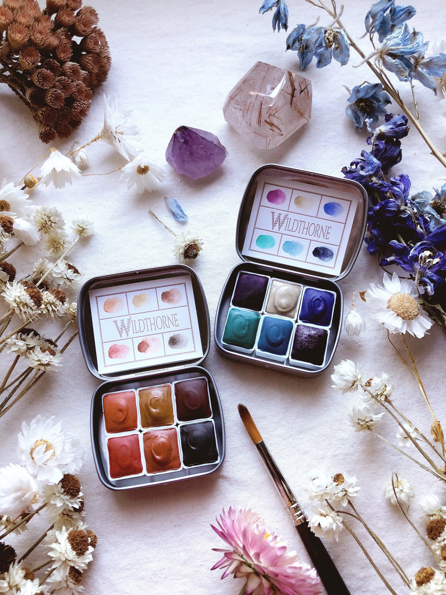 "Desert Medicine + ""Being You"" journal - Limited edition Mineral watercolor palette"