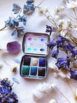 RESERVE for Sandra + Custom Mineral watercolor palettes