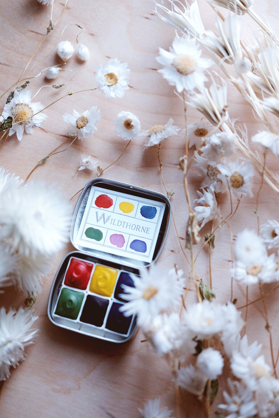 RESERVE for Marianna + Kaleidoscope + Primary Mineral watercolor palette