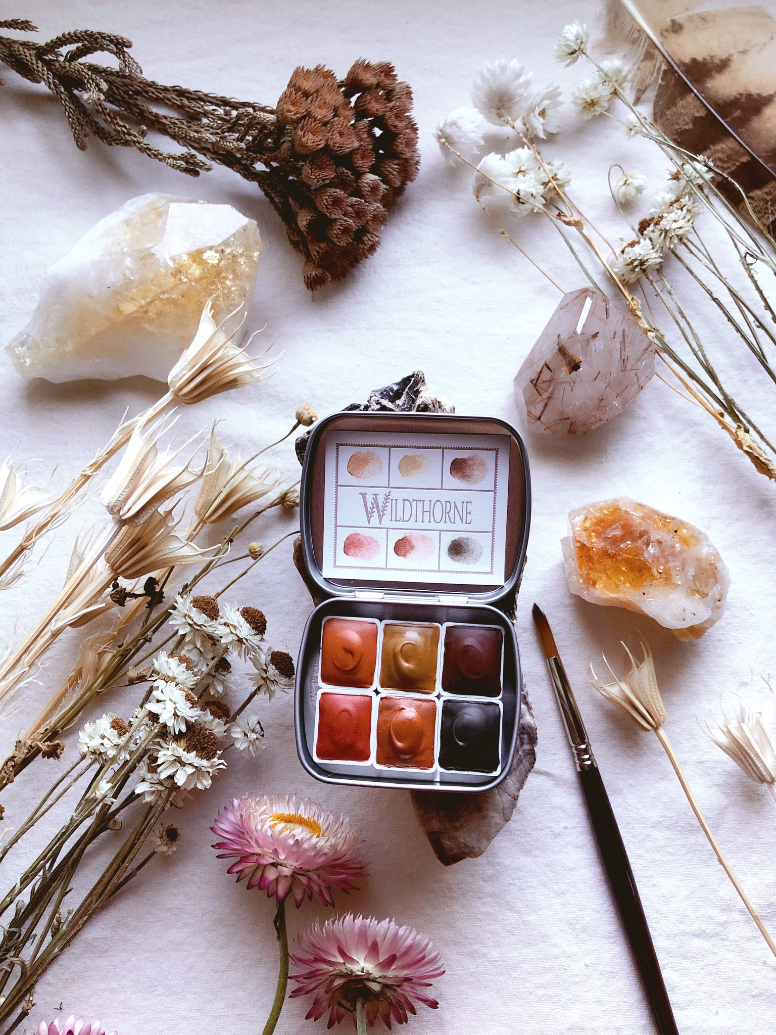 "RESERVE for Lucy +  Desert Medicine + ""Being You""  - Limited edition Mineral watercolor palette"