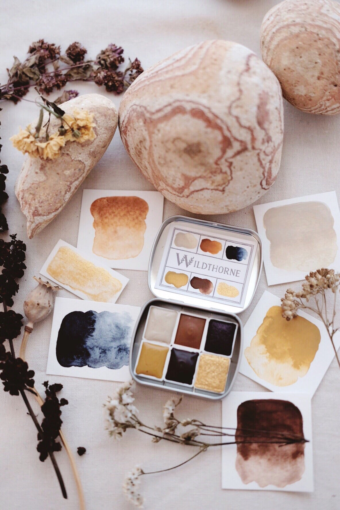 RESERVE for Michaela + Custom Gemstone and Mineral watercolors