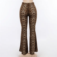 Load image into Gallery viewer, High Waist Leopard Print Flare Pants