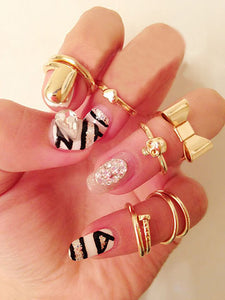 7pc Midi Ring Set