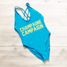 Load image into Gallery viewer, CHAMPAGNE CAMPAIGN Cross Back Swimwear