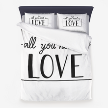 Load image into Gallery viewer, All You Need is Love Microfiber Duvet Cover