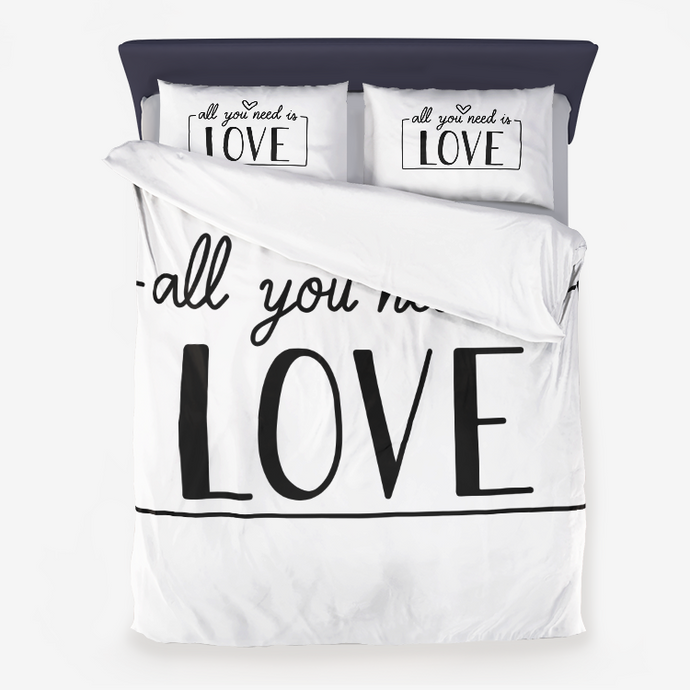 All You Need is Love Microfiber Duvet Cover
