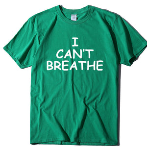 I Can't Breathe Letter Print Short Sleeve T-Shirt