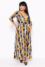 Load image into Gallery viewer, Elegant Maxi Dress With A Waist Tie