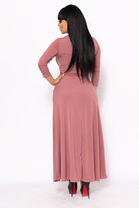 Elegant Maxi Dress With A Waist Tie