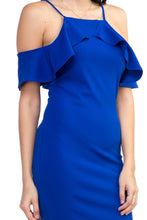 Load image into Gallery viewer, Ruffle Open Shoulder Halter Dress