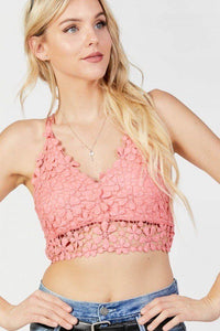 Lovely Floral Crochet Top