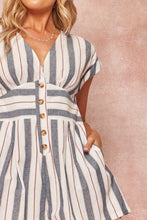 Load image into Gallery viewer, Striped Woven Romper