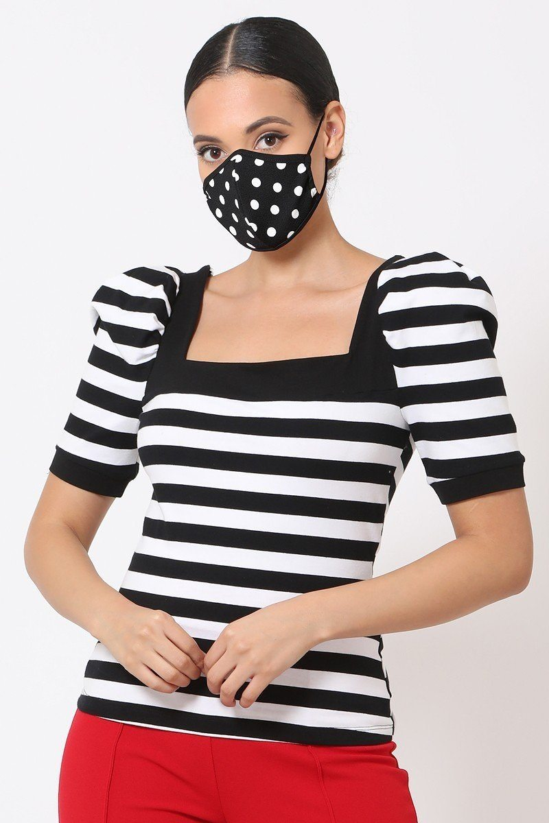 Polka Dots 3d Fashion Reusable Face Mask