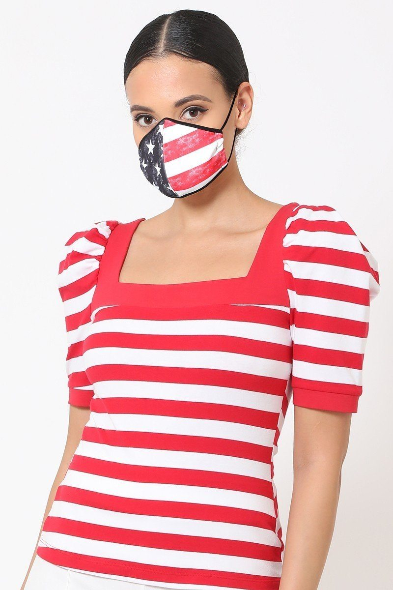 Patriotic 3d Fashion Reusable Face Mask