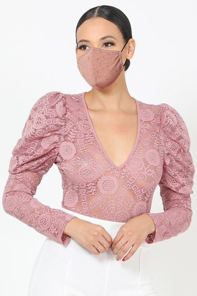 Clay Lace 3d Fashion Reusable Face Mask