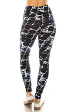 Load image into Gallery viewer, Long Yoga Style Banded Lined Abstract Printed Knit Legging With High Waist.