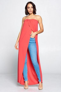 Strapless Long Top