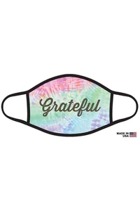 Grateful Graphic Printed Face Mask Unisex Adult