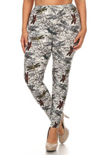 Load image into Gallery viewer, Plus Size Dragonfly Print, Full Length Leggings
