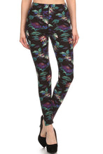 Load image into Gallery viewer, Floral Print, Full Length Leggings In A Slim Fitting Style With A Banded High Waist